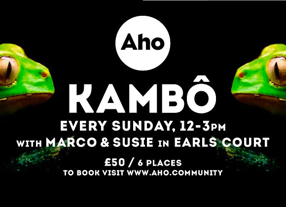 Kambo with Marco and Susie: Every Sunday. 12-3pm
