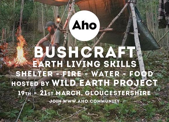 Bushcraft Course: Earth Living Skills. 19-21st March. Deposit