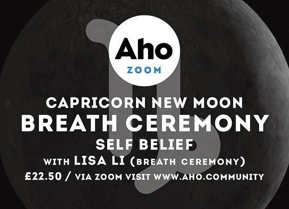 Capricorn New Moon, Breath Ceremony, Wed 13th Jan, 6-8pm
