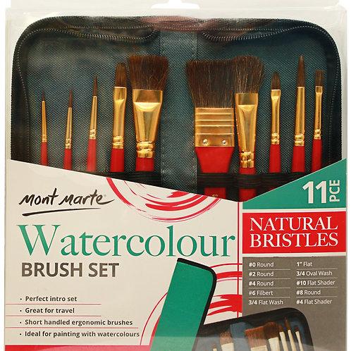 MM Brush Set in Wallet 11pc - Watercolour