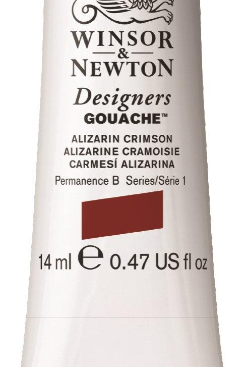 004 W&N Designers' Gouache 14ml - Alizarin Crimson