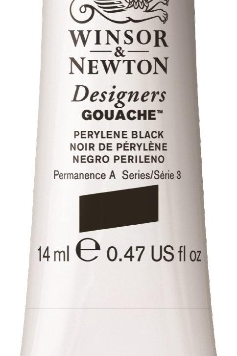 505 W&N Designers' Gouache 14ml - Perylene Black
