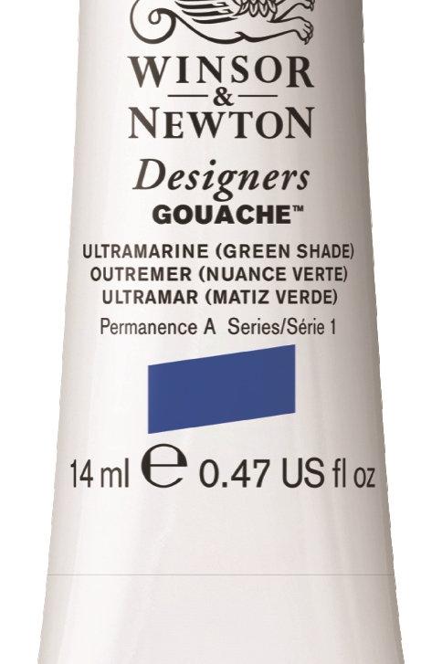 191 W&N Designers' Gouache 14ml - Ultramarine (Green Shade)