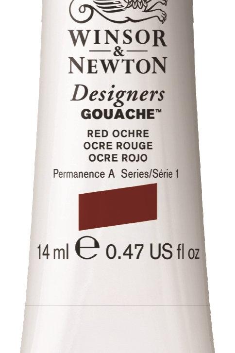 564 W&N Designers' Gouache 14ml - Red Ochre