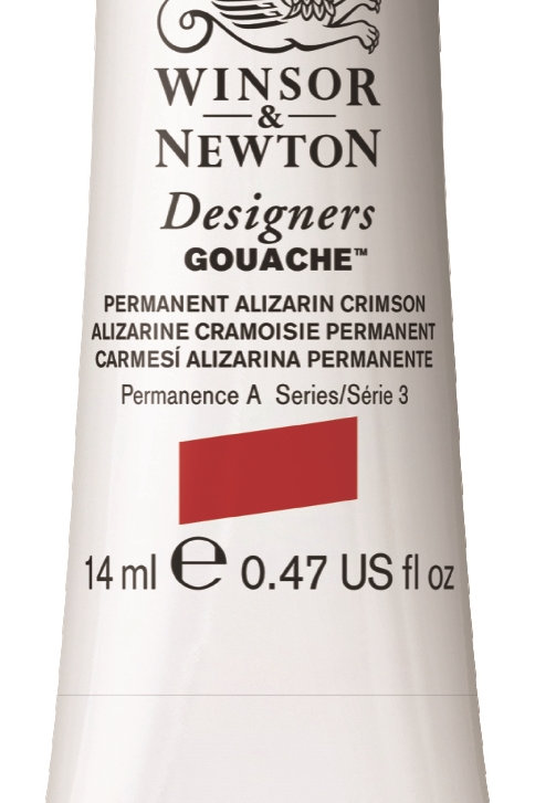 466 W&N Designers' Gouache 14ml - Permanent Alizarin Crimson