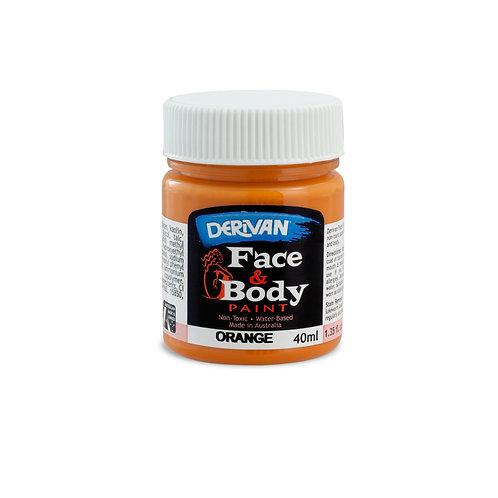 Derivan Face Paint - Orange