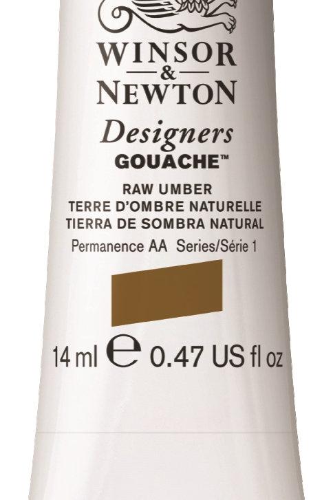 554 W&N Designers' Gouache 14ml - Raw Umber
