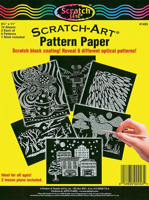 PA864 CS Scratch-Art Op Art Pattern Paper