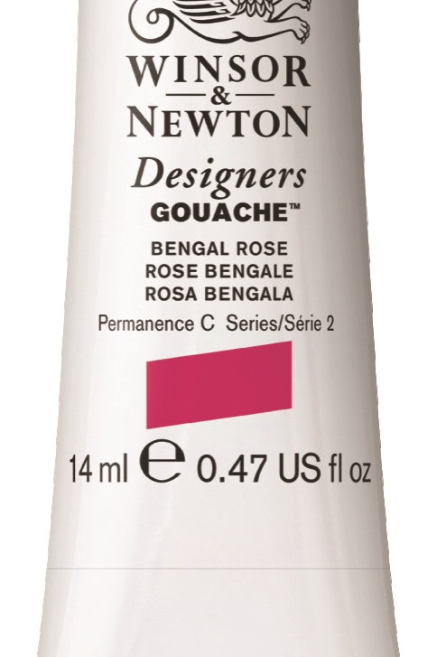 028 W&N Designers' Gouache 14ml - Bengal Rose