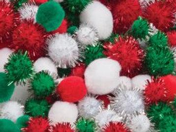PP180 CS Pom poms - Christmas