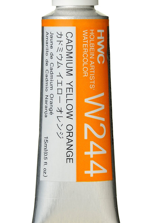 W244 Holbein Artists' Watercolour 15ml - Cadmium Yellow Orange