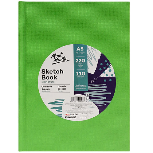 MM Sketch Book Hard Cover 220pg 110gsm