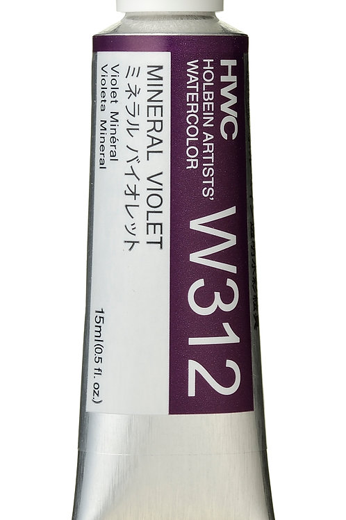 W312 Holbein Artists' Watercolour 15ml - Mineral Violet