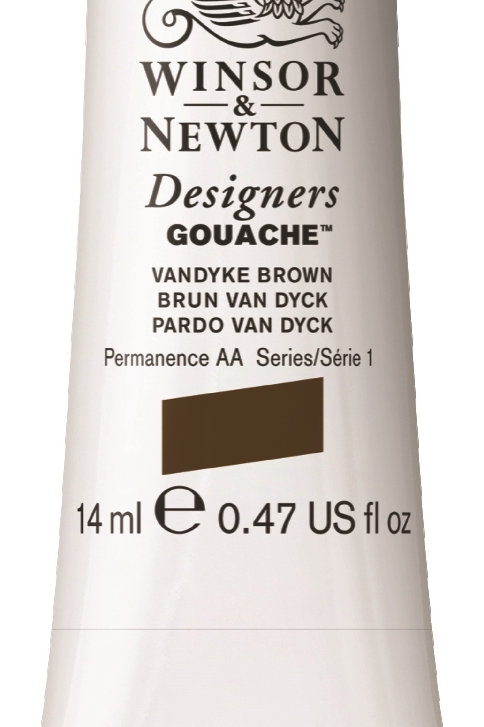 676 W&N Designers' Gouache 14ml - Vandyke Brown