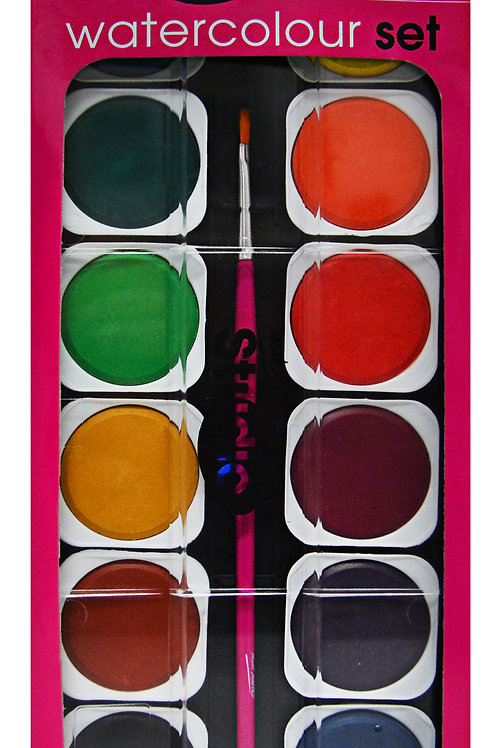PMHS0024 MM Studio Watercolour Painting Set 26pc