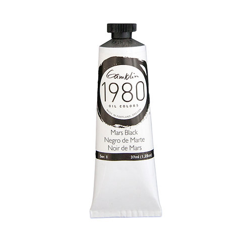Gamblin 1980 Oil Colour  - Mars Black