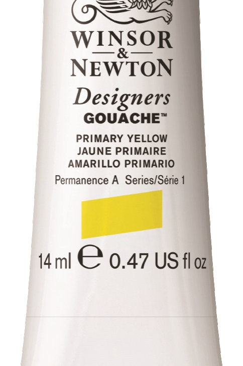 527 W&N Designers' Gouache 14ml - Primary Yellow