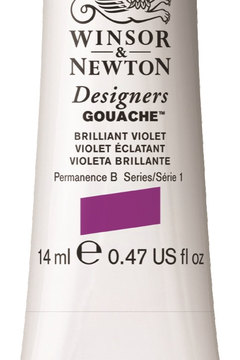 052 W&N Designers' Gouache 14ml - Brilliant Violet