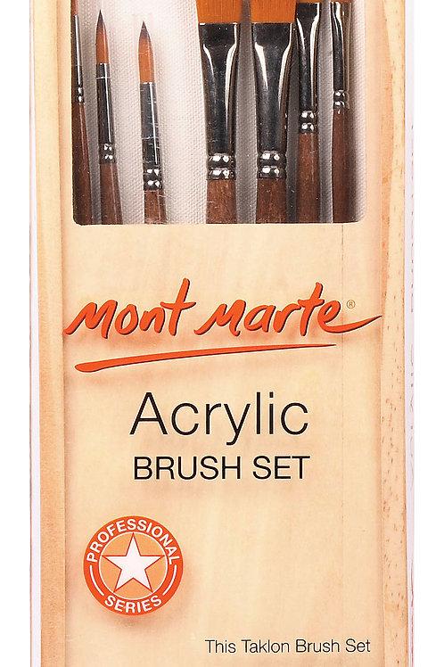 MM Acrylic Brush Set in box 7pc