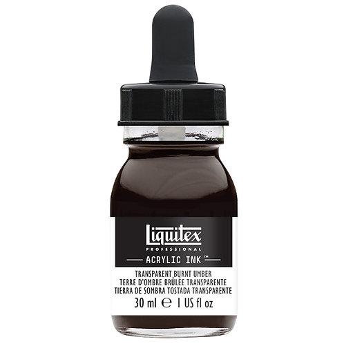 130 Liquitex Acrylic Ink 30ml - Transparent Burnt Umber