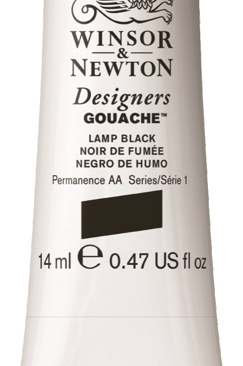 337 W&N Designers' Gouache 14ml - Lamp Black