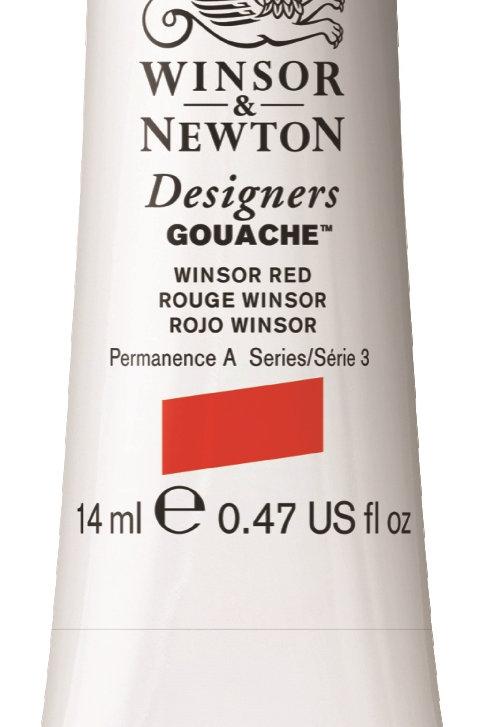 726 W&N Designers' Gouache 14ml - Winsor Red