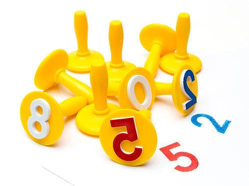 PSTN10 EC Paint & Dough Stampers Numbers 0-9 (Set of 10)