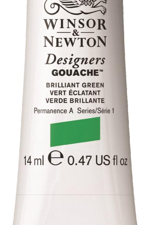 046 W&N Designers' Gouache 14ml - Brilliant Green