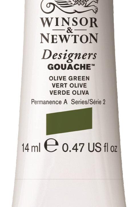 447 W&N Designers' Gouache 14ml - Olive Green