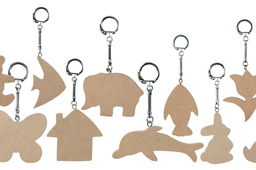 KG200 Wooden Key Ring Tags