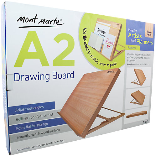 MEA0033 MM Drawing Board A2 with elastic band