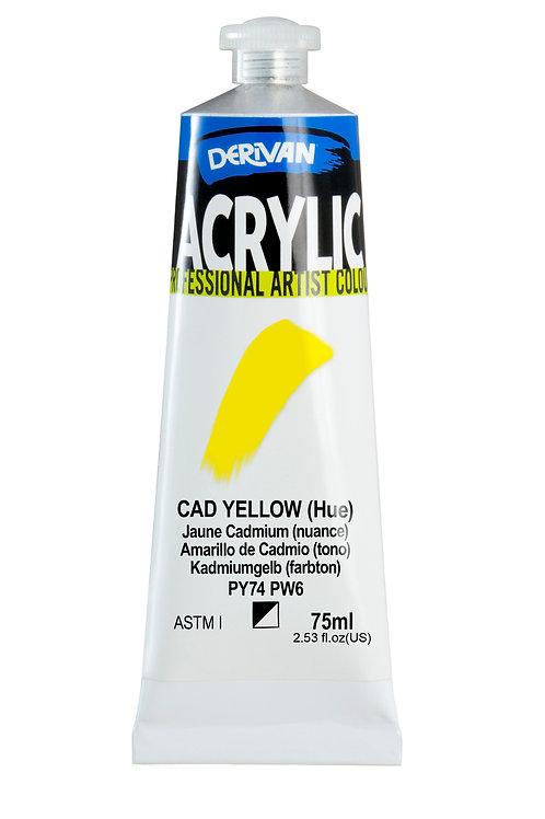 Derivan Acrylic - Cadmium Yellow (Hue)