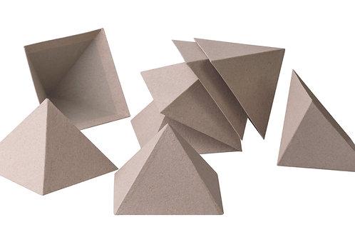 BW828 Papier Mache Stackable Pyramids