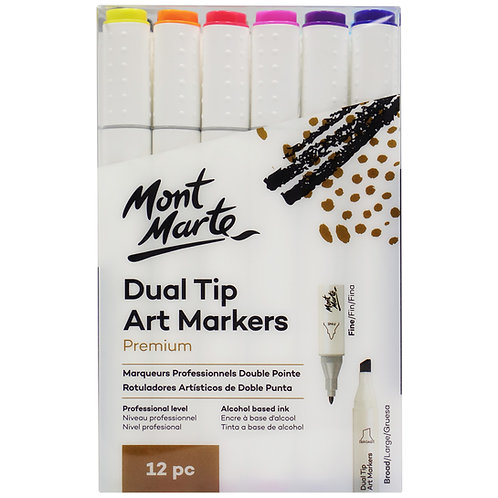 MMPM0022 MM Dual Tip Art Markers 12pc