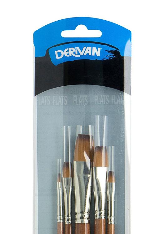 9BS1015 Derivan Golden Synthetic Brass Ferrule 5 Set