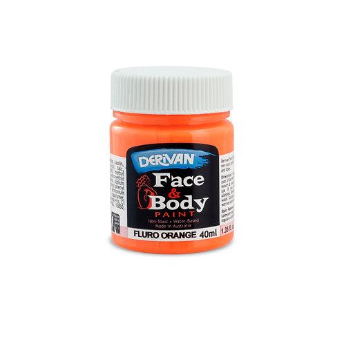 Derivan Face Paint - Fluro Orange