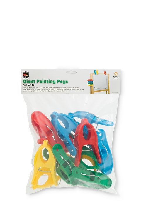 GPP12 EC Giant Painting Pegs (Set of 12)