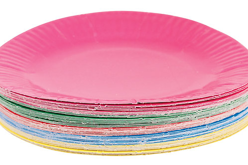 CS Paper Plates  - Assorted Colours