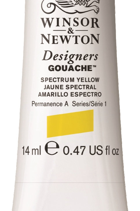 627 W&N Designers' Gouache 14ml - Spectrum Yellow