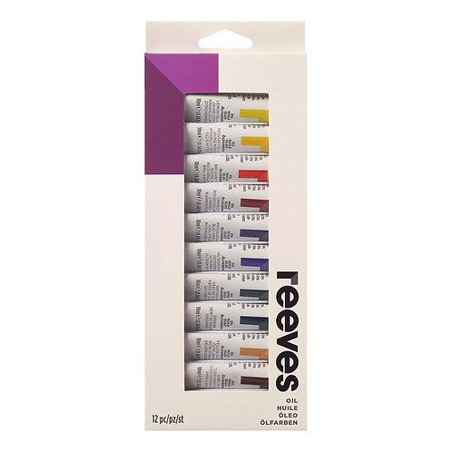 8594300 Reeves Paint Set - Oil Colour (12)