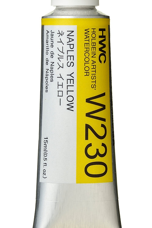 W230 Holbein Artists' Watercolour 15ml - Naples Yellow