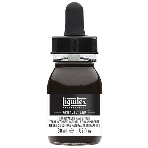 333 Liquitex Acrylic Ink 30ml - Transparent Raw Umber