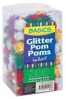 PP205 CS Basics Pom Poms Glitter