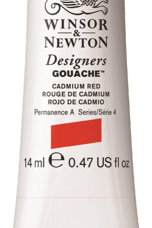 094 W&N Designers' Gouache 14ml - Cadmium Red