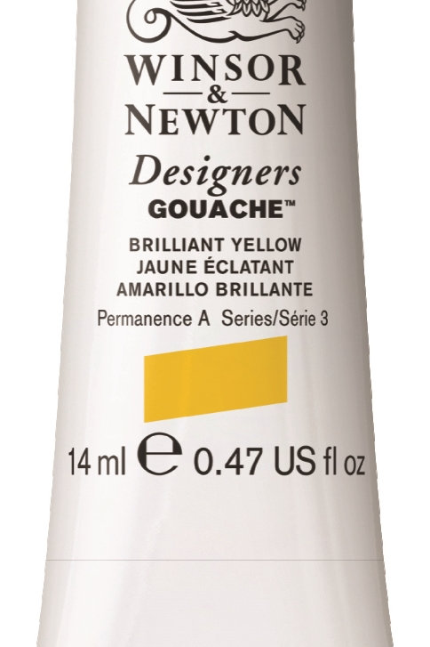 055 W&N Designers' Gouache 14ml - Brilliant Yellow