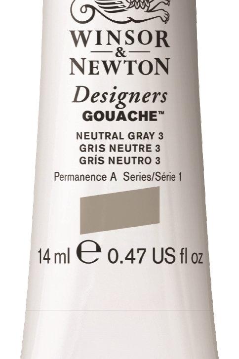 436 W&N Designers' Gouache 14ml - Neutral Grey No. 3