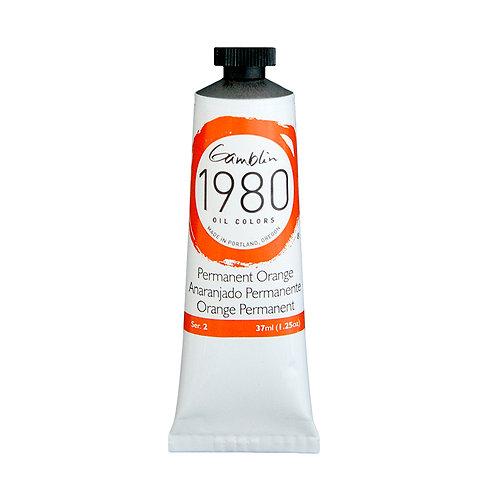Gamblin 1980 Oil Colour - Permanent Orange
