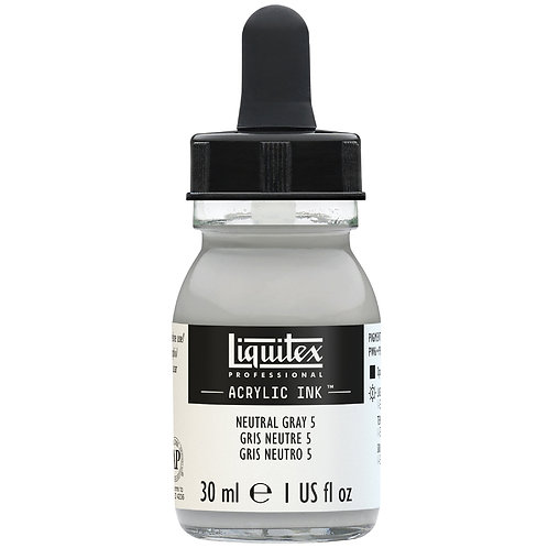 599 Liquitex Acrylic Ink 30ml - Neutral Grey Value 5/Mixing Grey
