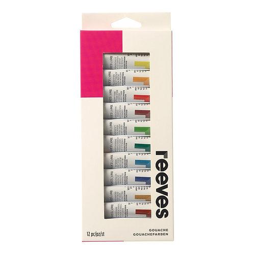 8693354 Reeves Paint Set - Gouache (12)