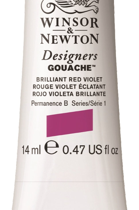 050 W&N Designers' Gouache 14ml - Brilliant Red/Violet